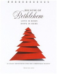 Because of bethlehem Tabletop devotional